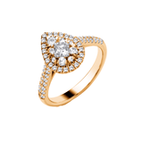 Pear Halo With Diamond Shoulders - 9ct Gold - SayItWithDiamonds.com