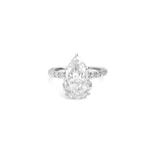 Pear Shape Moissanite Ring - SayItWithDiamonds.com
