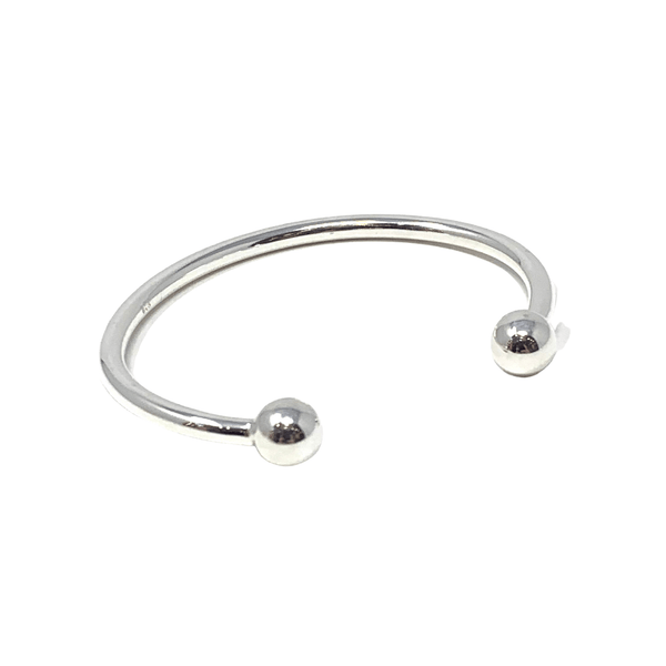 Rockabye Baby Baby Ball Bangle - Sterling Silver - SayItWithDiamonds.com