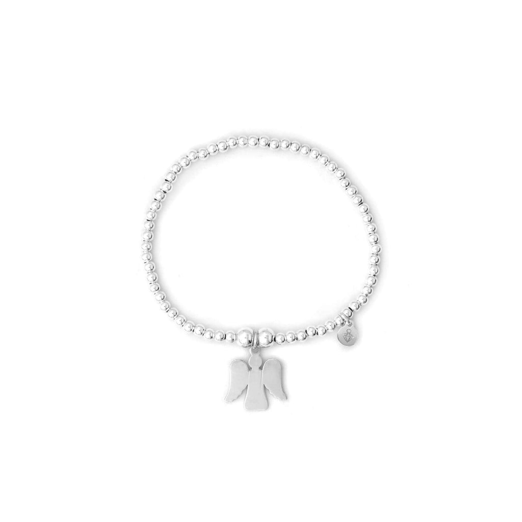 Rockabye Baby Guardian Angel Ball Bracelet - Sterling Silver - Baby/Junior - SayItWithDiamonds.com