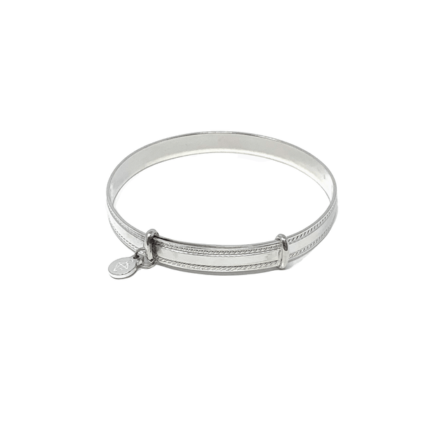 Rockabye Baby Thin Bangle - Sterling Silver - Engraving £10 - SayItWithDiamonds.com