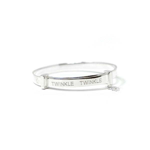 Rockabye Baby Twinkle Twinkle Baby Bangle - Sterling Silver - SayItWithDiamonds.com