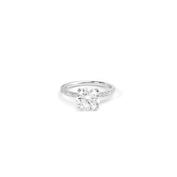 Round Diamond Band Moissanite Ring - 18ct Gold - SayItWithDiamonds.com
