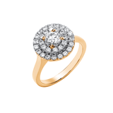 Round Double Halo - 9ct Gold - SayItWithDiamonds.com