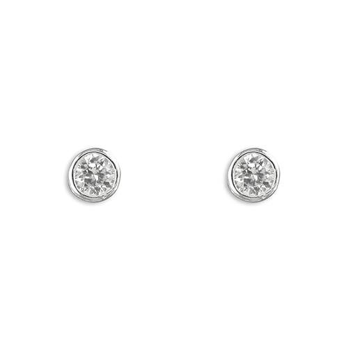 Silver bezel set earrings - SayItWithDiamonds.com