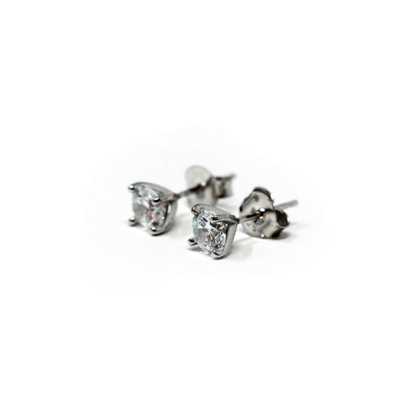 Sterling Silver Earrings with CZ Stones - SayItWithDiamonds.com