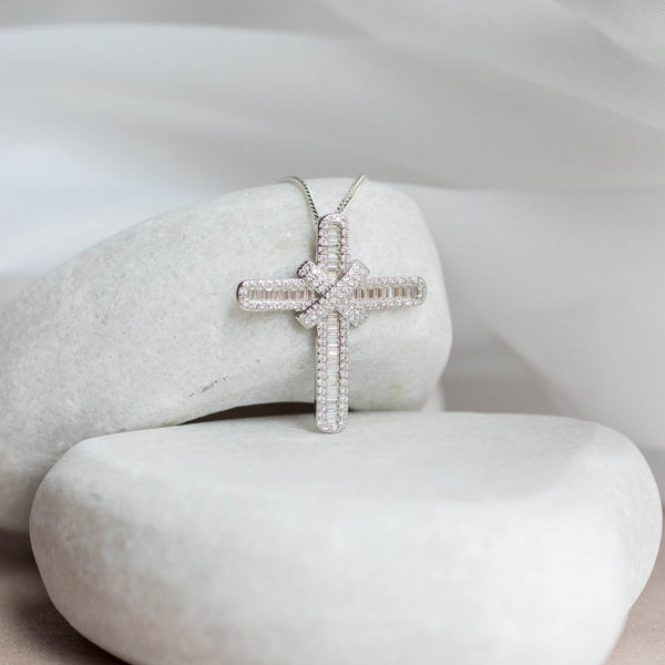 Sterling Silver Forever Cross - SayItWithDiamonds.com