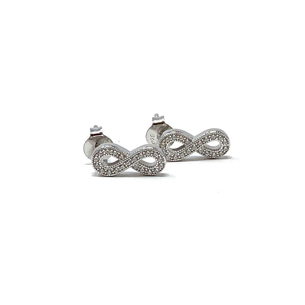 Sterling Silver Infinity Earrings - SayItWithDiamonds.com