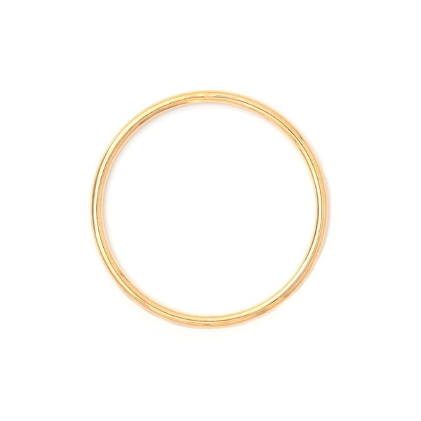 Sterling Silver Round Bangle - 18ct Yellow Gold Plated - SayItWithDiamonds.com