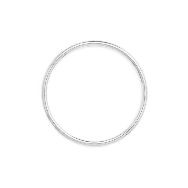 Sterling Silver Round Bangle - SayItWithDiamonds.com