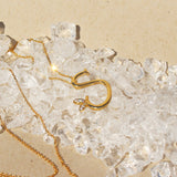 Sterling Silver Yellow Gold Plated - Winged Initial Necklace - SayItWithDiamonds.com