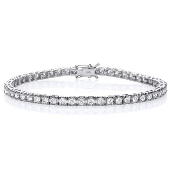 Tennis Bracelet - 18ct Gold - Real Diamonds - SayItWithDiamonds.com