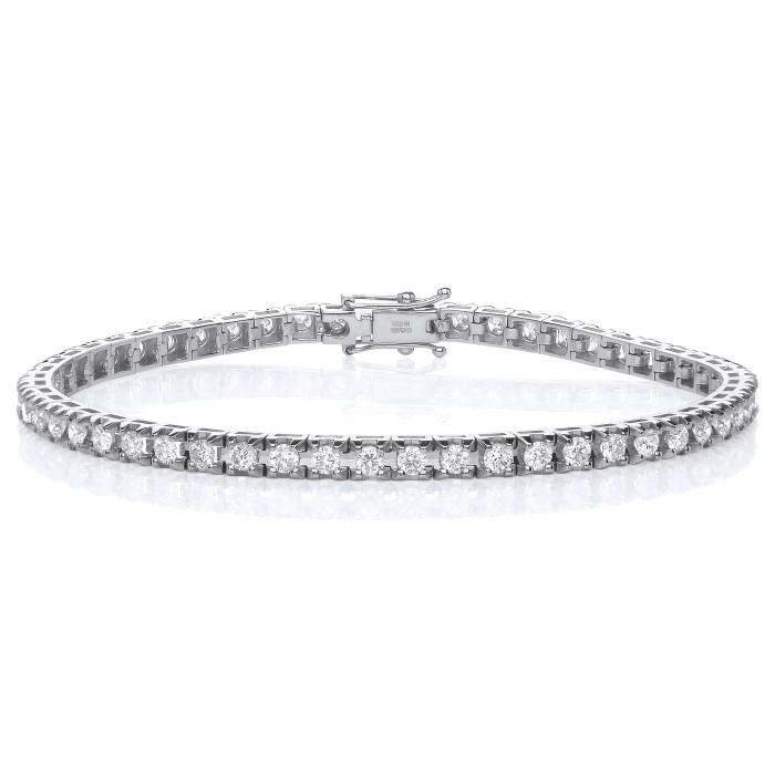 Tennis Bracelet - 18ct White Gold - 1ct Real Diamonds - SayItWithDiamonds.com