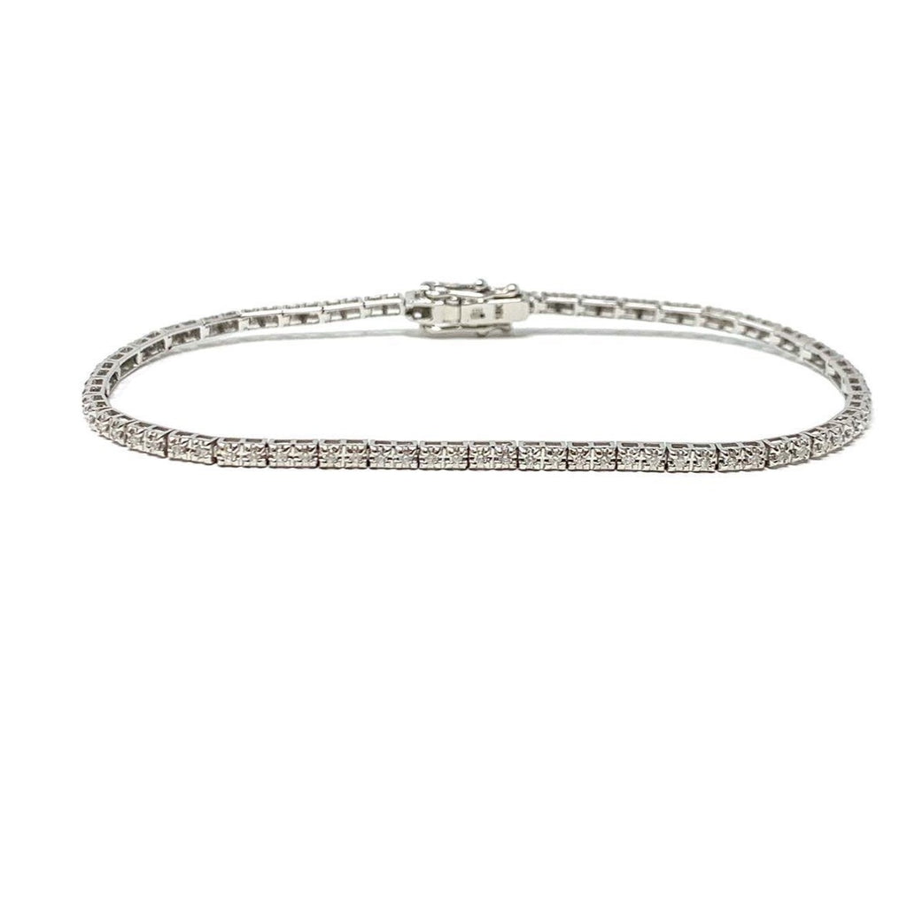 Tennis Bracelet - 18ct White Gold - .75ct Real Diamonds - SayItWithDiamonds.com