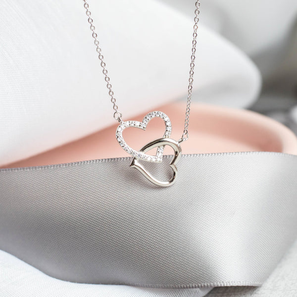 Together Forever Sterling Silver Necklace - SayItWithDiamonds.com