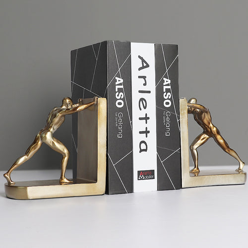 Bookstand 1pair American Creative Sports People Push Things Bookstand Ornaments Nordic Furnishings - Targen