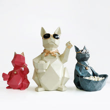 Load image into Gallery viewer, Cat Dog Bowl Resin Crafts Moden Crafts Animals Storage - Targen