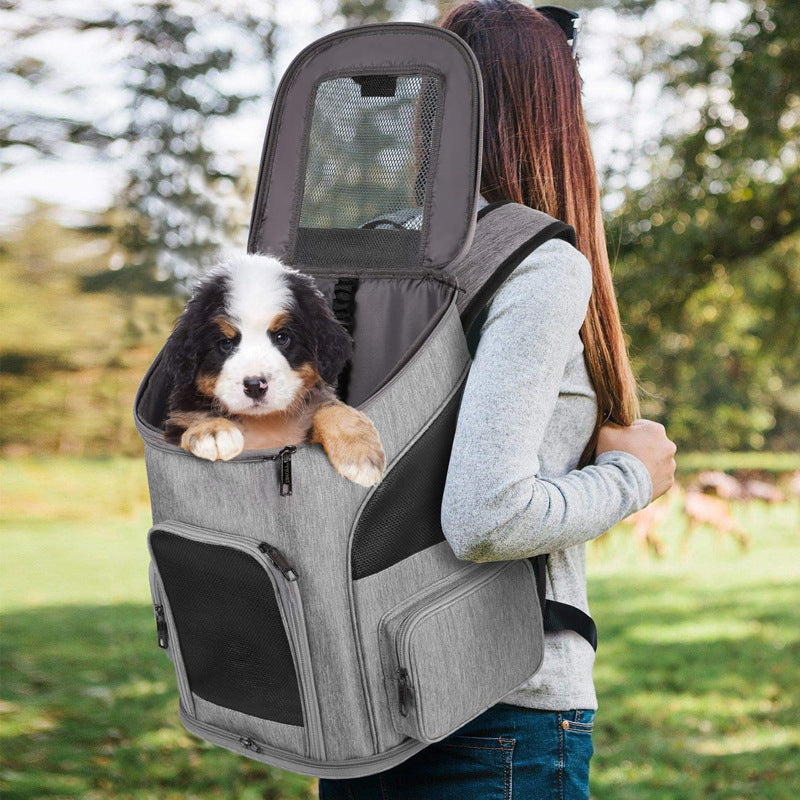 Backpack Carrier Ventilated Design Breathable Dog Cat Pet Carrier - Targen