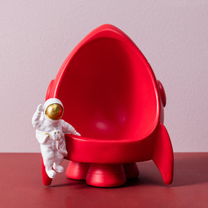 Creative Spaceman Sculpture Astronaut Storage Resin Rocket Statues - Targen