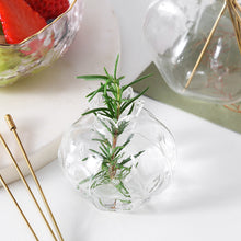 Load image into Gallery viewer, Targen Pomegranate Clear Glass Bud Vase