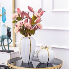 Load image into Gallery viewer, Targen Artificial Pumpkins Vase for Decoration