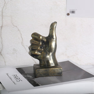 Retro Finger Statue Hand Gesture Sculpture Creative Desktop Decor - Targen
