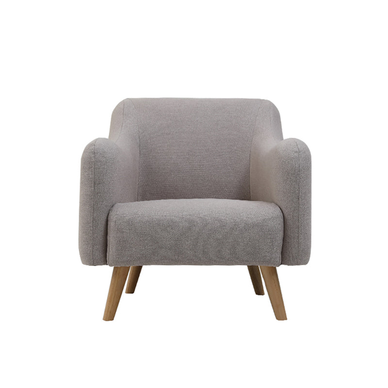 Modern Solid Wood Chair Nordic Fabric Armchair For Cafe Or Home - Targen