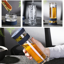 Load image into Gallery viewer, Cup Portable Double Wall Borosilica Glass With Lid Filter - Targen