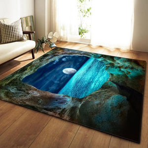 3D Printed Galaxy Space Mat Rugs Anti-slip Large Rug With Soft Flannel For Living Room Deco - Targen
