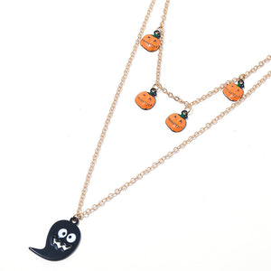 Halloween Jewelry Set Include Earrings, Necklace,Brooch And Wristlet