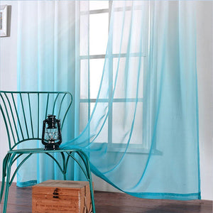 Faux Linen Sheer Curtains Semi Sheer Curtains for Bedroom Living Room Set of 2 Curtain Panels - Targen