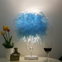 Load image into Gallery viewer, Table Lamp Led Feather Heart Wing Crystal Lighting Heart-Shaped Gift Lamp - Targen