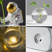 Load image into Gallery viewer, Creative Glass Vase Resin Astronaut Diver Ornaments Flower Vases