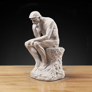 Resin Thinker Character Sculpture Creative Nordic Decoration - Targen
