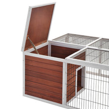 Load image into Gallery viewer, Pet House Small Animal Cage with Enclosed Run for Outdoor Garden Backyard - Targen
