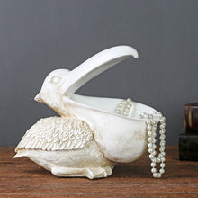 Load image into Gallery viewer, 3D Big Mouth Bird Statue Desk Storage Box Animal Key Storage Ornament - Targen