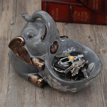 Load image into Gallery viewer, Creative Storage Baby Elephant Ornament White Pottery Key Storage Box - Targen
