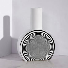 Load image into Gallery viewer, Creative Ceramic Simple Geometric Lines Flower Vases - Targen