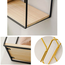 Load image into Gallery viewer, Storage Rack Multi Shape Metal Iron Wooden Storage Holders - Targen
