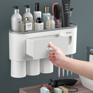 Toothbrush Holder Inverted Cup Automatic Toothpaste Squeezer Sets - Targen