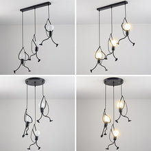 Load image into Gallery viewer, Creative Small Metal Black Chandelier Hanging Lighting