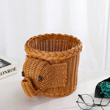 Load image into Gallery viewer, Handicraft Simulation Animal Storage Handmade Bread Basket - Targen