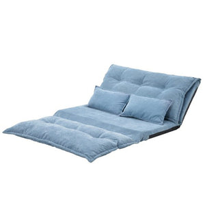 Sofa Bed Adjustable Folding Futon Sofa Leisure Sofa Bed with Two Pillows - Targen