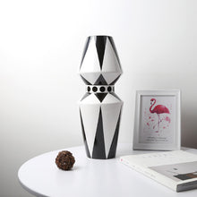 Load image into Gallery viewer, Scandinavian Geometric Ceramic Vase Table Countertop Vase - Targen