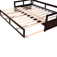 Load image into Gallery viewer, Wooden Daybed with Trundle Bed and Two Storage Drawers Extendable Bed