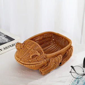 Handicraft Simulation Animal Storage Handmade Bread Basket - Targen