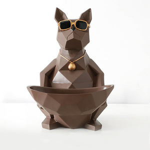 Cat Dog Bowl Resin Crafts Moden Crafts Animals Storage - Targen