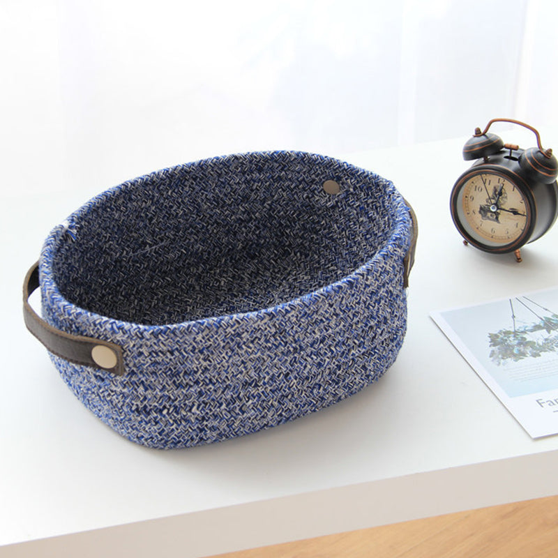 Cotton Woven Fabric Storage Basket