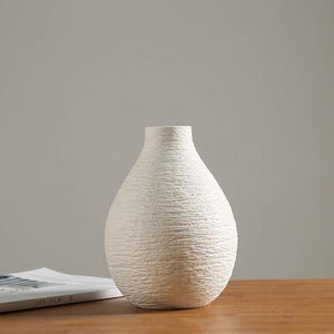 White Ceramic Vase Dry Flower Modern Minimalist Literary Vases for Flowers - Targen