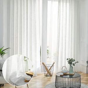 Treatment Beautiful Sheer Voile Window Elegance Curtains for Bedroom & Kitchen - Targen